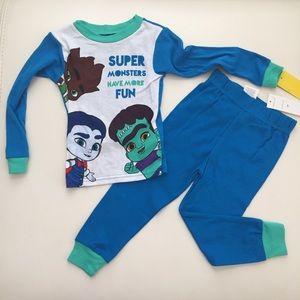 Netflix super monster cute boy pajama